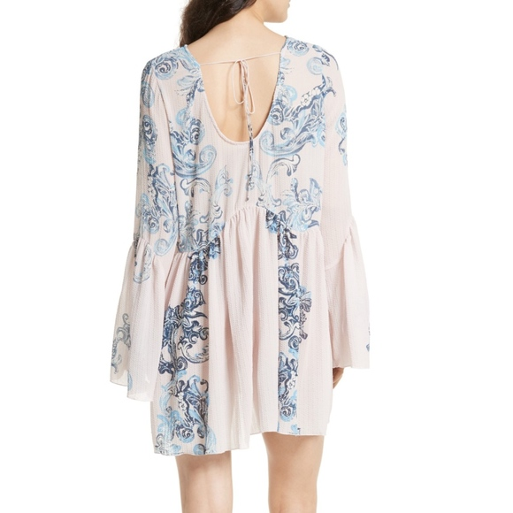 043a34c1f437 Free People Dresses | Print Symphony Bell Sleeve Lilly Dress | Poshmark